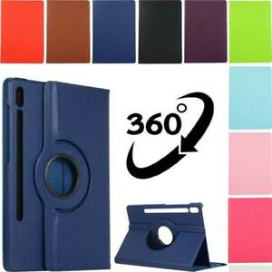 For Samsung Galaxy Tab A S5e S6 S7 Plus Tablet Case Rotating Leather Flip Cover