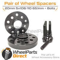 Wheel Spacers (2) & Bolts 20mm for Peugeot RCZ 09-15 On Aftermarket Wheels
