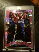 Zion Williamson PINK Cracked Ice #248 Rc 2019-20 PANINI PRIZM Rookie SP Pelicans