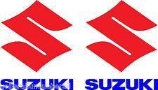2 Aufkleber Suzuki Logo m. Schriftzug Motorrad GSXR, RGV, RM, SV, Bandit