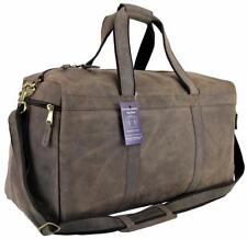 """21"""" Mens Vtg Genuine Leather Duffel Carry On Luggage Overnight Travel Gym Bag"""