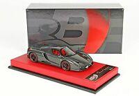 Ferrari Enzo Full Carbon Fibre con base in ecopelle rossa scala 1/43