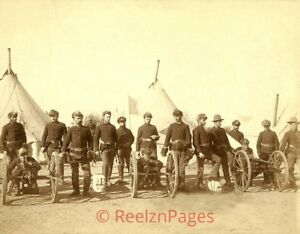 New Art Print Of c.1885 Photo Soldiers Of E Battery  8 1/2 X 11