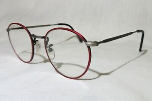 "l.a. Eyeworks ""TOTTO"" eyeglasses, Red Metal frame, Italy 1994, new old stock NEW"
