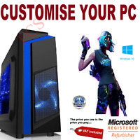 Ultra Fast Quad Core i7 Gaming PC GTX 1060 GTX 1660 32GB RAM 1TB HDD Windows 10