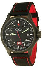 Zeno-Watch Basel Swiss Made Speed Navigator Q red 6750Q-a17 Saphir 5 ATM Nylon