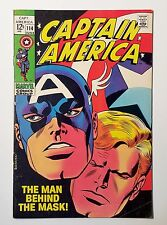 Captain America  #114  Vol. 1  (1969) THE MAN BEHIND THE MASK! Johnny Romita Sr.