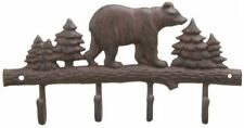 Cast Iron Bear Wall Key Rack Holder 4 Hooks Coat Hook Home Décor