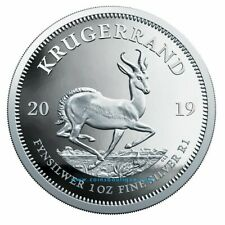 PROOF KRUGERRAND 1oz SILVER COIN South Africa 2019