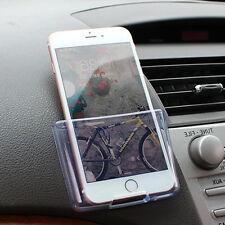 1*Car Storage Bag Dashboard Mount Cell Phone Box Transparent for Charge Hot Sale