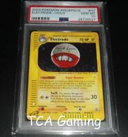 PSA 10 GEM MINT Electrode H7/H32 Aquapolis HOLO RARE Pokemon Card
