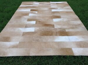 Cowhide patchwork, table runner, carpet leather animal, skin hair on