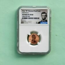 "2019 W REVERSE PROOF Lincoln Cent NGC PF 70 RD, (First ""W""), Portrait Label"