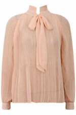 Polyester Business Tie Neck Regular Tops & Shirts for Women