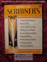 SCRIBNER'S December 1933 STUART CHASE JAMES G COZZENS