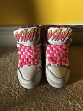 F91 Vintage Osiris Girls White Multi Color High Top Sneakers SIZE 6 NYC 83 SLM