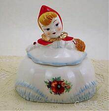 LITTLE RED RIDING HOOD 2 PIECE SUGAR BOWL w/GOLD TRIM - SHIPS FREE