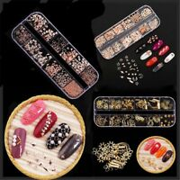 Mixed Shape Metal Alloy 3D Decoration Manicure DIY Nail Art Tips Rivet Studs
