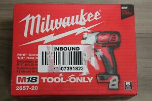 """Milwaukee 2657-20 M18 Cordless 2-Speed 1/4"""" Hex Impact Driver TOOL-ONLY"""