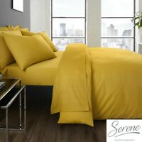 Plain Dye Easy Care Mix and Match Duvet Cover & Sheets In Ochre By Serene