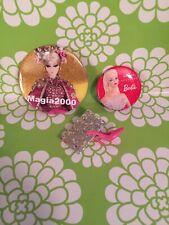 3~2019 Barbie Doll Convention Diamond Jubilee Souvenir Pins~Magia 2000 Hallmark
