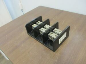 Square D Power Distribution Block 9080 LBA365202 620A 600V 3P *No Cover* Used