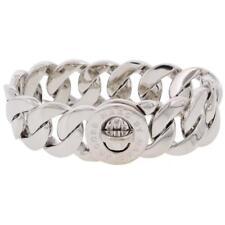 Marc by Marc Jacobs Womens Katie Silver Logo Link Bracelet Jewelry O/S BHFO 7355