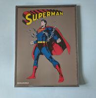 Vintage 9x12 1978 DC Comics Superman Carnival Mirror ~  Brytone