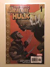 Ultimate Wolverine Vs. Hulk #1 signed Damon Lindelof Wizard Authentic