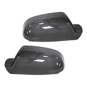 2Pc Carbon Fiber Style Rear View Mirror Cover Cap Fit For Audi A3 A4 S4 A5 S5 B9