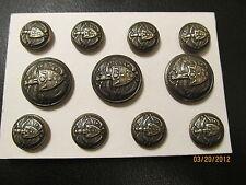 RALPH LAUREN Metal BLAZER BUTTON Set Coat Shank  24/36 Ag nkl silver  11P