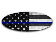 Thin Blue American Flag Decal for 2015-2017 Ford F-150 Emblem (Front and Rear)