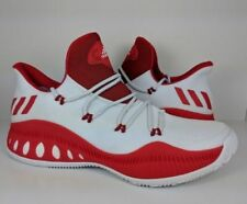 newest 3f350 2bcb8 ADIDAS Crazy Explosive Low Rockets Harden White Red sz 16 Boost Basketball  Shoes