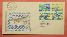 1959 NETHERLANDS ANTILLES FDC 25TH ANNIV KLM AIRMAIL