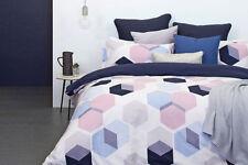 Cotton Sateen Geometric Three-Piece Quilt Covers