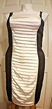 Maurice's Studio Y Black-White Cocktail Prom Body Dress Silk 11/12 NWT Reg $50