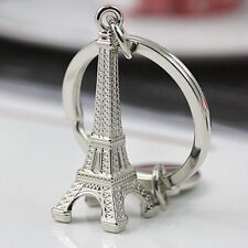 Eiffel Tower Metal Keyring Keychain Keyfob Key Ring Chain