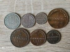 Prussia Germany set of 7 coins 2 1/2+1+1/2 groschen+4+3+2+1 pfenning 1857-1868