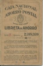 Argentina - 1938 Postal Savings Bank book with 11 different Postal Savings stamp