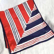 Vera Neumann Red White Blue Mod Stripe Scarf Scarve 46� x 10�