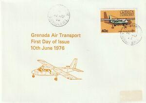 1976 Grenada&Grenadines FDC cover Grenada Air Transport