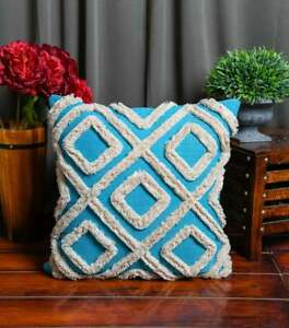 Moroccan Cushion Tassel Cushion Boho Hand Tufted Decorative Pillow Lumber 50*50