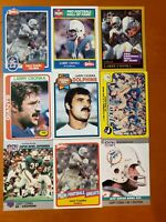 Larry Csonka HOF NICE 9 CARD LOT Miami Dolphins / Syracuse