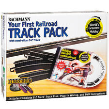 Bachmann 44497 EZ-Track Steel Alloy First Railroad Track Pack HO Scale