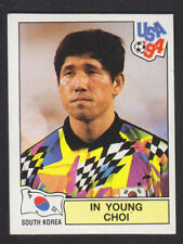 Panini - USA 94 World Cup - # 206 In Young Choi - South Korea (Black Back)