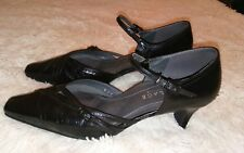 Wallage Product By Asics Women's Black Strappy Dressy Slim Heels Shoes Size 8