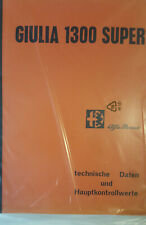 Werkstatthandbuch / Service Manual Alfa Romeo Giulia 1300 Super