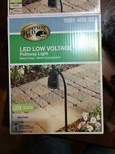 2 TOTAL - Hampton Bay Black LED Pathway Path Sidewalk Landscape Light