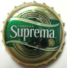 SUPREMA CERVEZA Bright gold used Beer CROWN, Bottle CAP, EL SALVADOR
