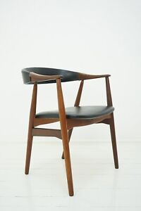 50er 60er Farstrup Teak Stuhl Armchair 213 by Th. Harlev Danish Design 50s 60s